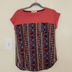 REWIND Aztec Print Shirt